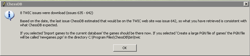 summary after downloading from TWIC